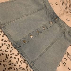 H&M Mini Jean Skirt with Buttons
